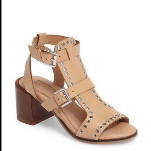 Topshop 'Vienna' Grommets Leather Sandals 10.5
